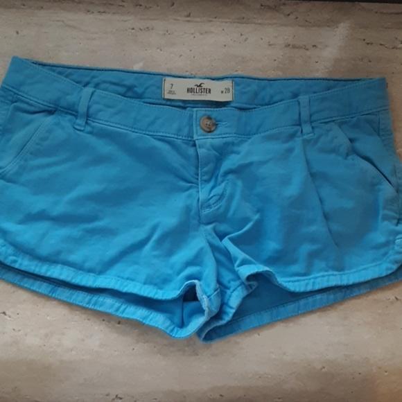 Hollister Pants - Bright blue Hollister shorts